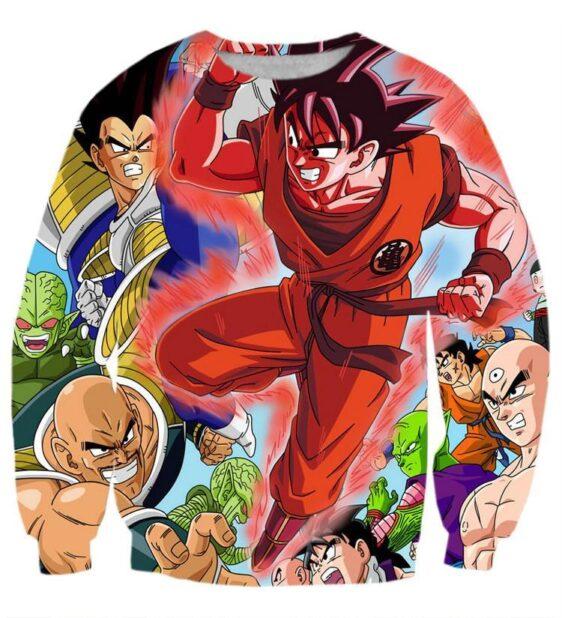 Dragon Ball Goku Super Saiyan Red Aura Power Vegeta Fight Villain Sweatshirt