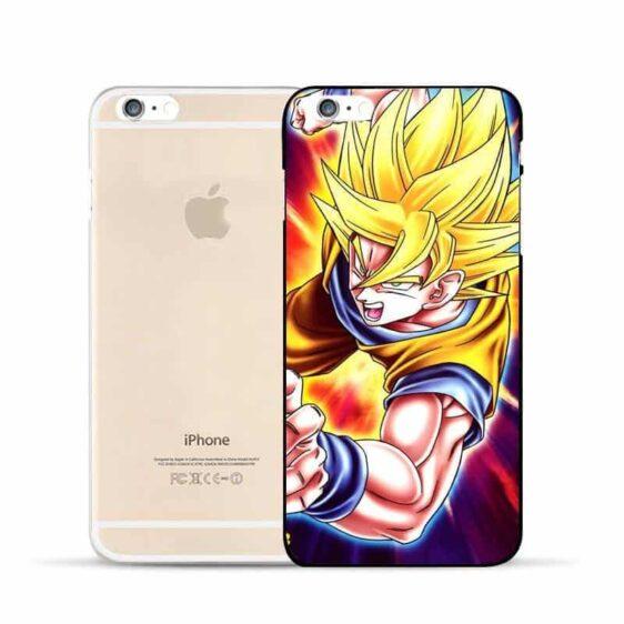 Dragon Ball Goku Super Saiyan Muscular SSJ2 Powerful Attack Hard PC iPhone 5 6 7 s Plus Case