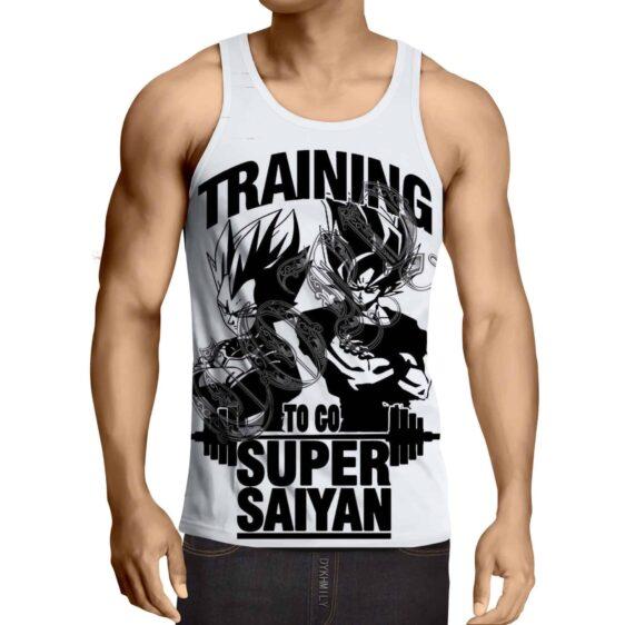 Dragon Ball Goku Vegeta Gym Training Motivation Design Tank Top