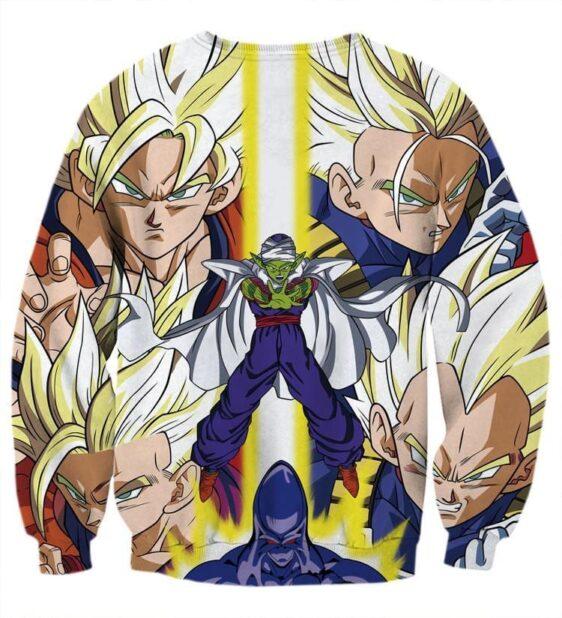 Dragon Ball Goku Vegeta Saiyan Piccolo Namekian Vibrant Design Sweatshirt