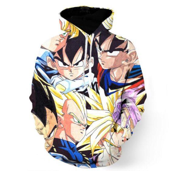 Dragon Ball Goku Vegeta Trunks Gohan Super Saiyan Cool Trending Design Hoodie