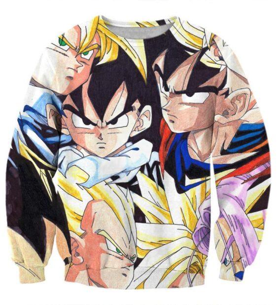Dragon Ball Goku Vegeta Trunks Gohan Super Saiyan Cool Trending Design Sweatshirt