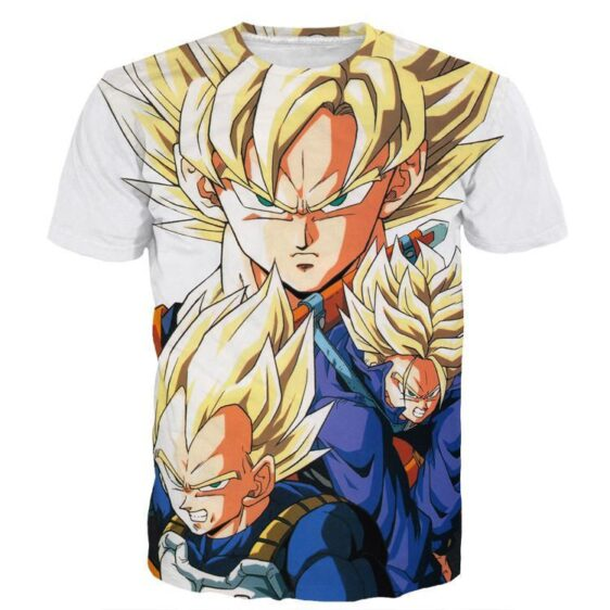Dragon Ball Goku Vegeta Trunks Super Saiyan Power Heroes Cool Trending Design T-Shirt