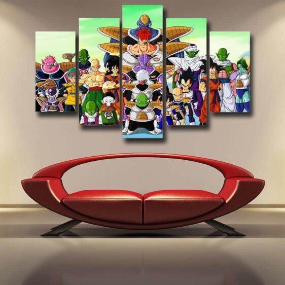 Dragon Ball Goku Villains Anime Theme 5pc Wall Art Decor Posters Canvas Prints