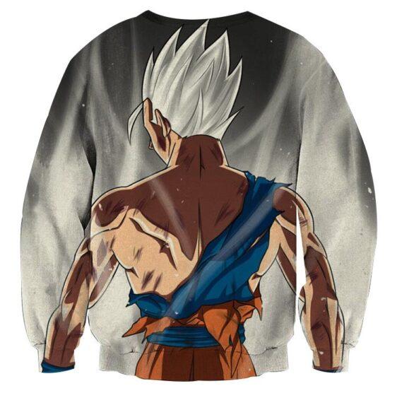Dragon Ball Goku White Super Saiyan Back View Epic Sweatshirt