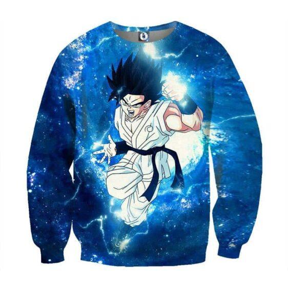 Dragon Ball Goku White Uniform Whis Symbol Fan Artwork Sweatshirt