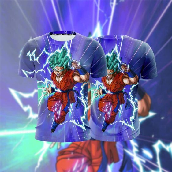 Dragon Ball Hero Super Saiyan Blue SSGSS Goku 3D T-shirt