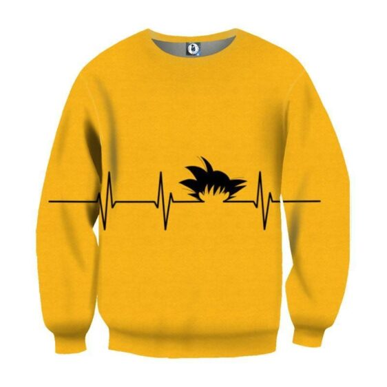 Dragon Ball Kid Goku Heart Beat Symbol Cool Creative Design Sweatshirt