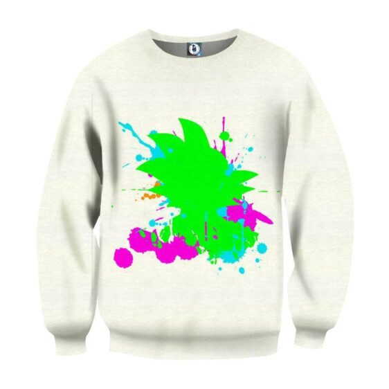 Dragon Ball Kid Goku Water Paint Relax Color Vibe Symbolic Sweatshirt