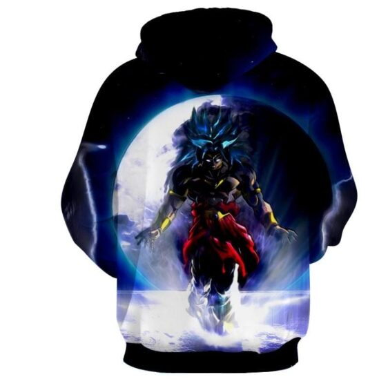 Dragon Ball Legendary Saiyan Broly Cool Blue Full Moon Hoodie