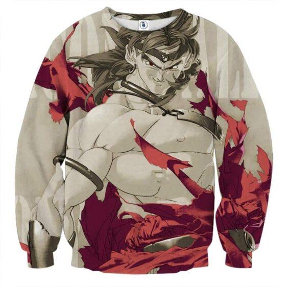 Dragon Ball Legendary Super Saiyan Broly Dope Gray Sweater