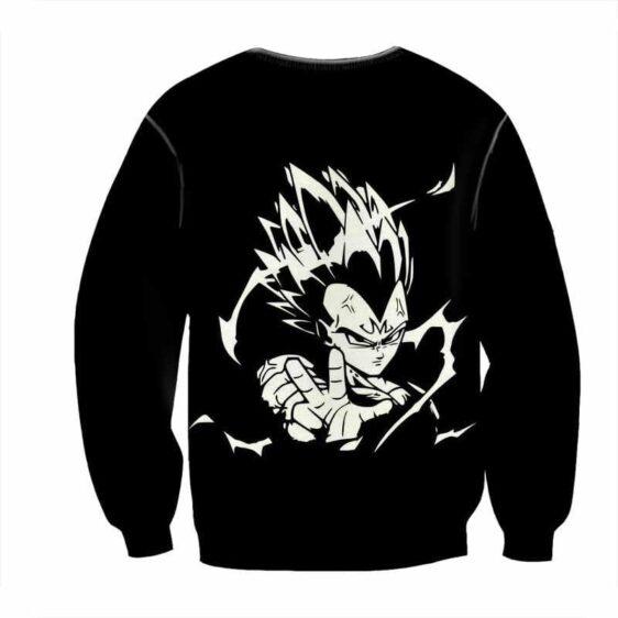 Dragon Ball Majin Vegeta Villain Black White Edition Dope Sweatshirt