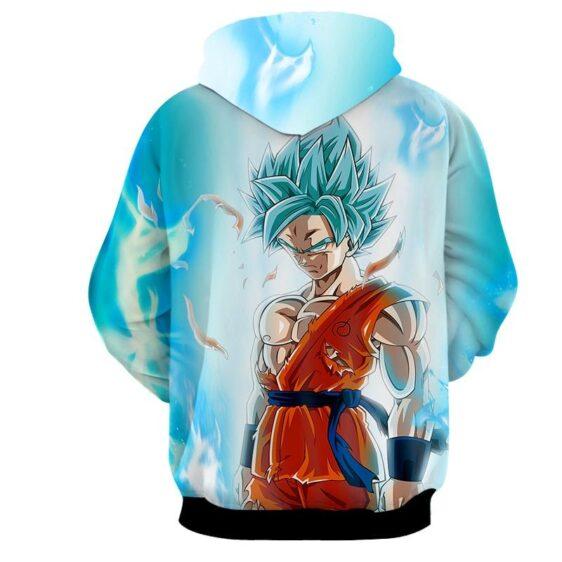 Dragon Ball Serious Super Saiyan Goku 2 Blue Epic Aura Hoodie