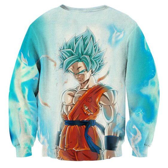 Dragon Ball Serious Super Saiyan Goku 2 Blue Epic Aura Sweatshirt