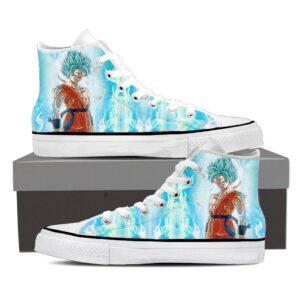Dragon Ball Serious Super Saiyan Goku Blue Epic Sneaker Shoes