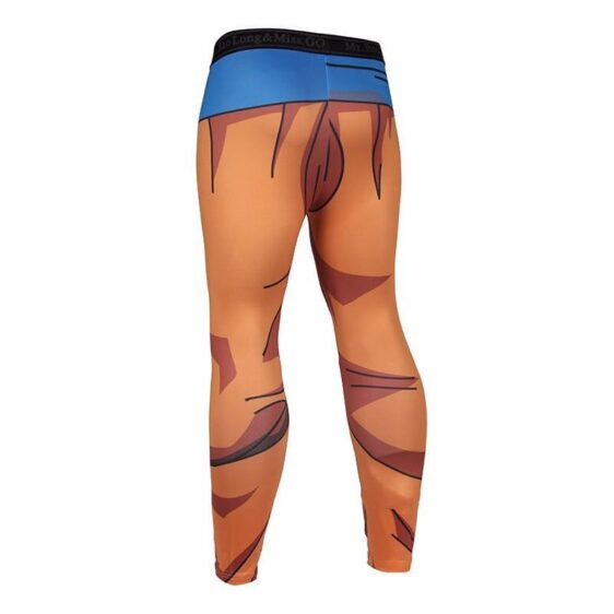 Dragon Ball Son Goku Orange Belt Fitness Gym Compression Leggings Pants - Saiyan Stuff - 2