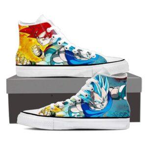 Dragon Ball Son Goku Vegeta Red Blue Serious Cool Sneaker Shoes