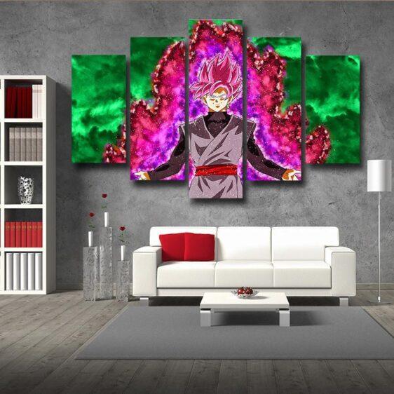 Dragon Ball Super Black Goku 5pc Wall Art Decor Posters Canvas Prints