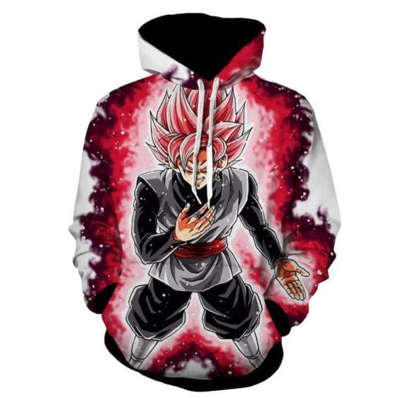 Dragon Ball Super Black Goku Rose 2 Super Saiyan Hoodie