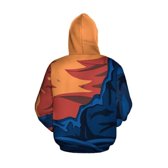 Dragon Ball Super Epic Vegito Torn Up Green Cosplay Hoodie