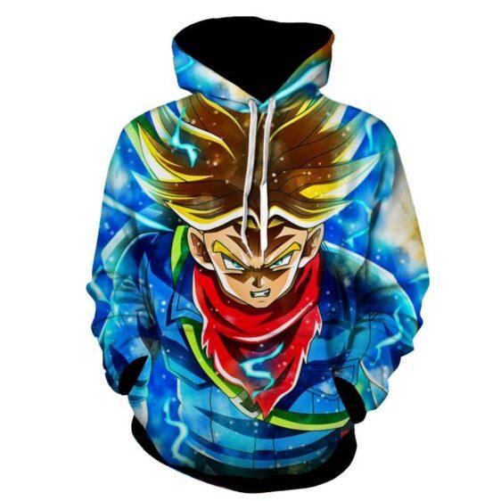 Dragon Ball Super Future Trunks Super Saiyan God Hoodie