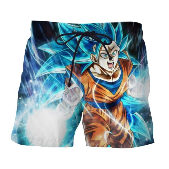 Dragon Ball Super Goku 3 Super Saiyan Blue Kaioken Boardshorts