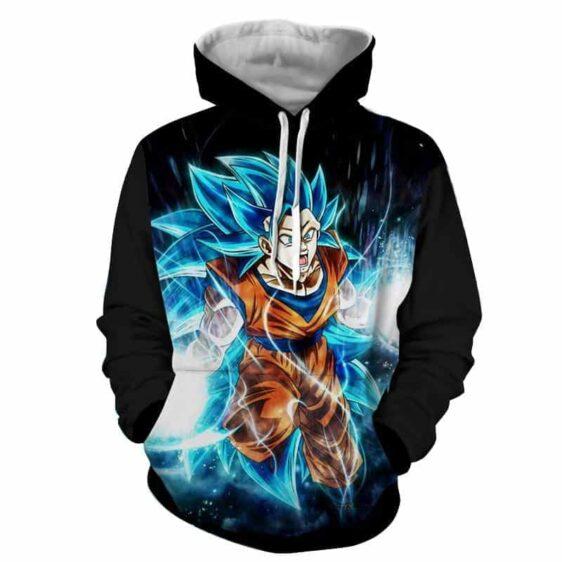 Dragon Ball Super Goku 3 Super Saiyan Blue Kaioken Hoodie