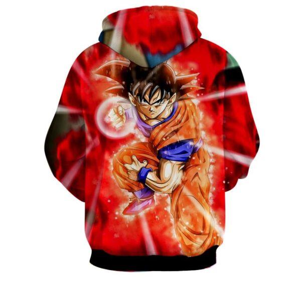 Dragon Ball Super Goku Red Kaioken Energy Epic Punch Hoodie