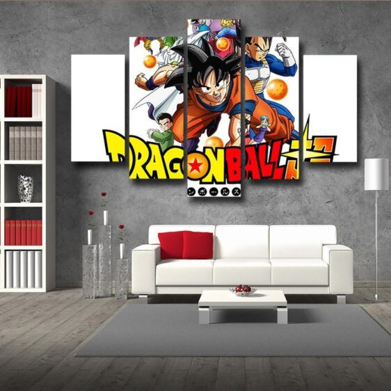 Dragon Ball Super Introduction Characters Decor 5pc Canvas Prints Wall Art