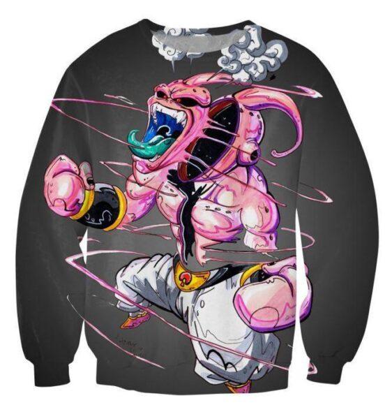 Dragon Ball Super Mad Kid Buu Graffiti Style Sweatshirt - Saiyan Stuff