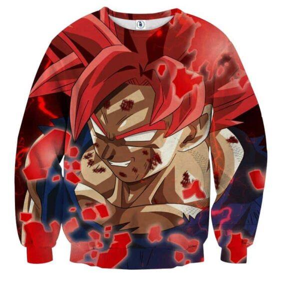 Dragon Ball Super Rage Goku Red Ultra Instinct Epic Sweater