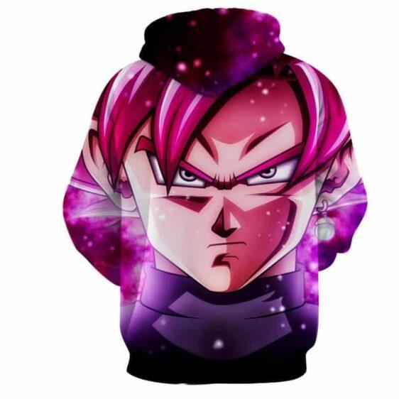 Dragon Ball Super Saiyan Black Goku Rose Cool Close Up Hoodie