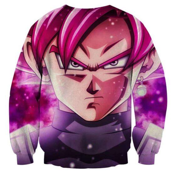 Dragon Ball Super Saiyan Black Goku Rose Cool Close Up Sweater