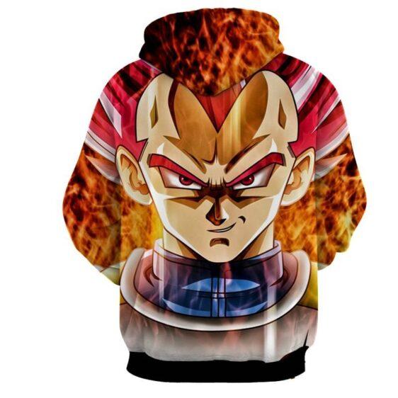 Dragon Ball Super Saiyan God Red Vegeta Cool Close Up Hoodie