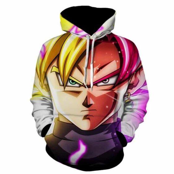 Dragon Ball Super Saiyan Goku 2 Black Rose Cool Close Up Hoodie