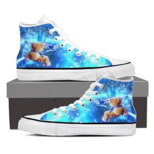 Dragon Ball Super Saiyan Goku Blue Kiai Blast Dope Sneaker Shoes