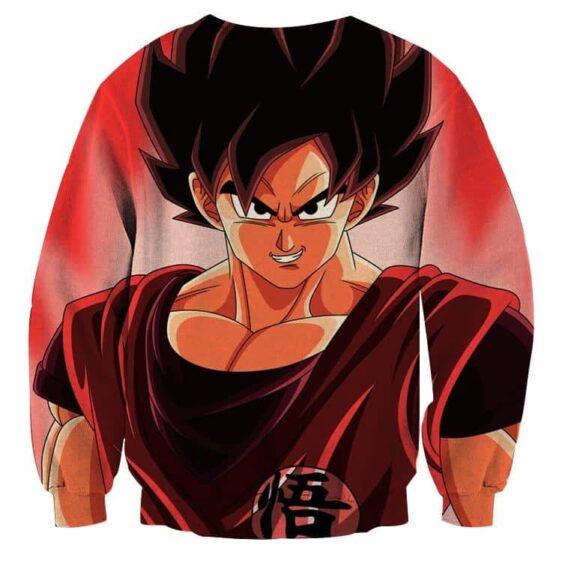 Dragon Ball Super Saiyan Goku Kaioken Epic Red Sweatshirt