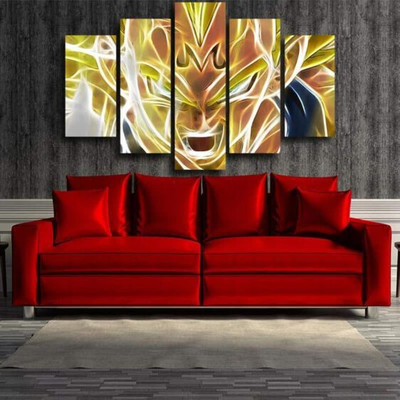 Dragon Ball Super Saiyan Prince Majin Vegeta 5pc Canvas Prints Wall Art