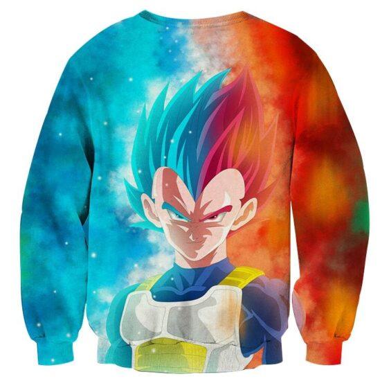 Dragon Ball Super Saiyan Serious Vegeta Blue Red Cool Sweater