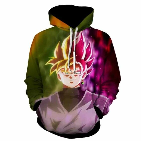 Dragon Ball Super Saiyan Black Goku Rose 2 Epic Hoodie