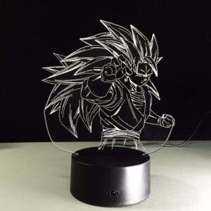 Dragon Ball Super Saiyan 3 Goku Color Changing Acrylic Panel Lamp - Saiyan Stuff - 2
