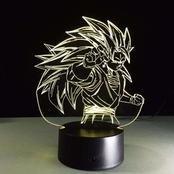 Dragon Ball Super Saiyan 3 Goku Color Changing Acrylic Panel Lamp - Saiyan Stuff - 5