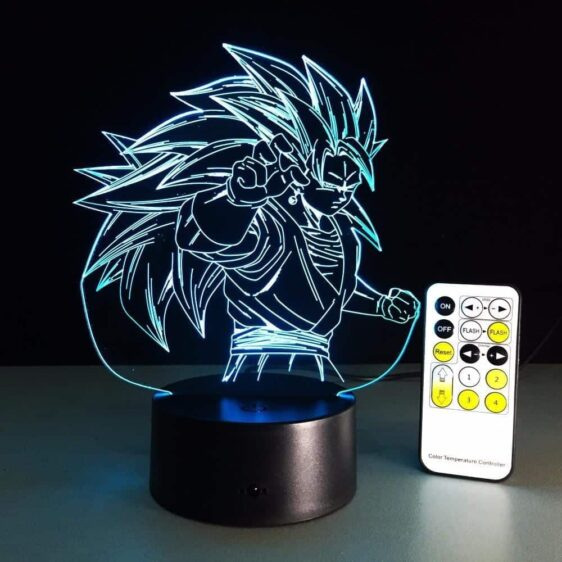 Dragon Ball Super Saiyan 3 Goku Color Changing Acrylic Panel Lamp - Saiyan Stuff - 10