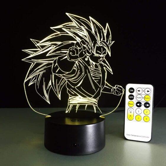 Dragon Ball Super Saiyan 3 Goku Color Changing Acrylic Panel Lamp - Saiyan Stuff - 12