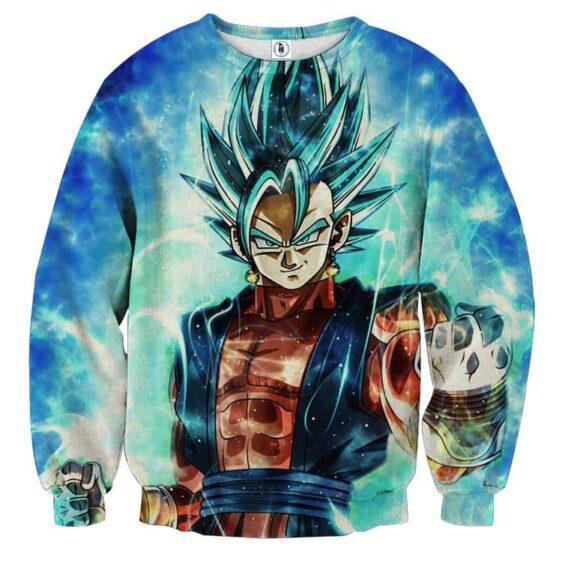 Dragon Ball Super Vegito 2 Blue Super Saiyan Kaioken Cool Sweater