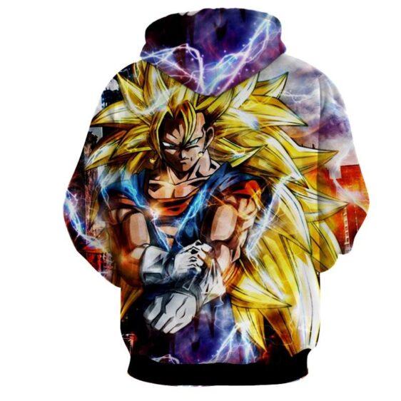 Dragon Ball Super Vegito 3 Super Saiyan Kaioken Epic Hoodie