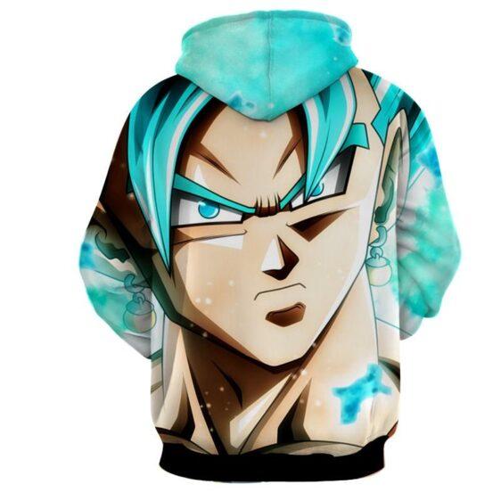 Dragon Ball Super Vegito Blue Super Saiyan Cool Close Up Hoodie