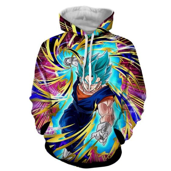 Dragon Ball Super Vegito Ultra Instinct Cool Colorful Hoodie