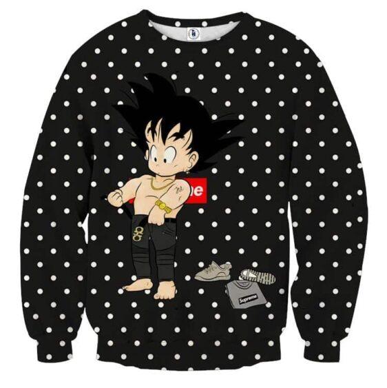 Dragon Ball Supreme Goku Kid Gangster Style Cool Sweatshirt