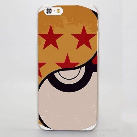 Dragon Ball Symbol Pokeball Crossover Cool Concept iPhone 4 5 6 7 Plus Case